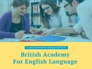 English Training Institute West Delhi