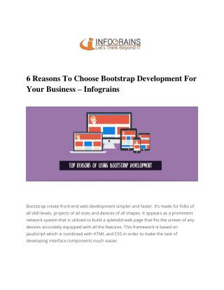 Bootstrap Development | Building A Responsive Website Design With Bootstrap