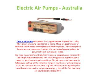 Electric Air Pumps - Australia
