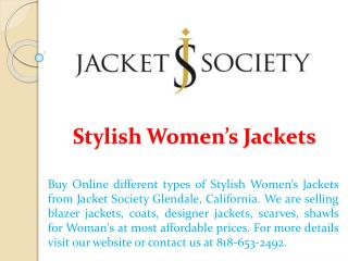 Stylish Women's Jackets
