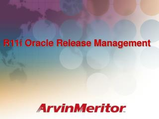 R11i Oracle Release Management
