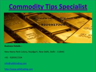 Commodity Tips Specialist