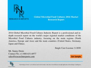 Global microbial food cultures market Analysis