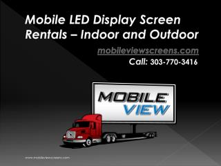 Mobile View Large Outdoor Screen Rentals