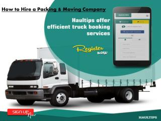 Find an online Packing & Moving Company