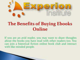 The Benefits of Buying Ebooks Online