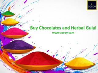 Buy Happy Holi Message Box With Herbal Gulal Color @ Zoroy