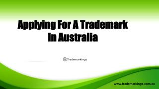 Applying For a Trademark In Australia