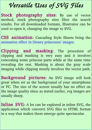 Versatile Uses of SVG Files