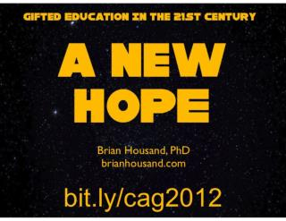 A NEW HOPE CAG 2012