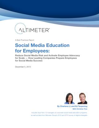[Report] Social Media Education for Employees, by Charlene Li and Ed Terpening