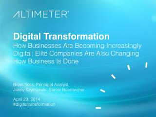 [Slides] Digital Transformation, with Brian Solis