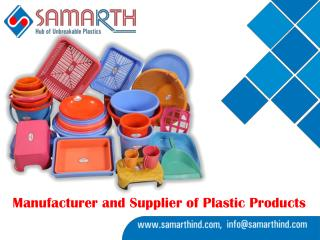Plastic Ghamela,Plastic Bucket,Plastic Dustbin Wholesale Supplier - Samarth Industries