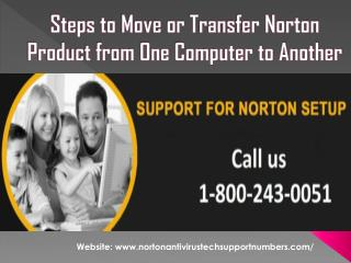 Steps to Move or Transfer Norton Product from One Computer to Another