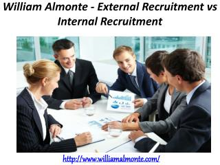 William Almonte - External Recruitment vs Internal Recruitment