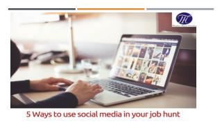5 Ways to use social media in your job hunt !!