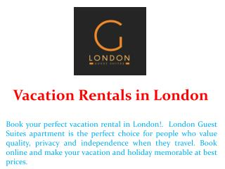 Vacation Rentals in London