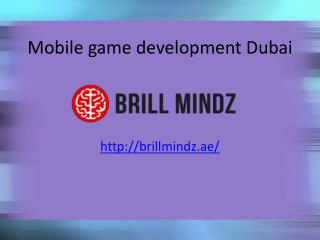 Mobile game development company Dubai