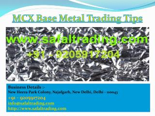 Mcx Base Metal Trading Tips