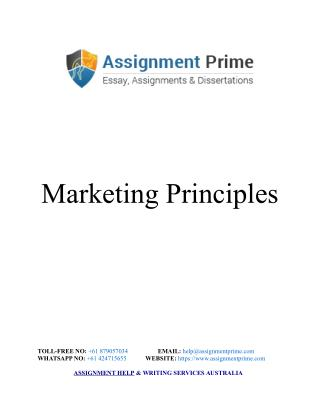 Marketing Principles Sample Assignment - Assignment Prime Australia