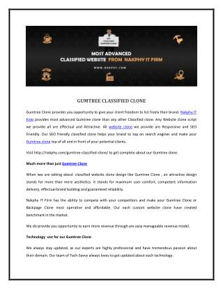 Gumtree Clone | Gumtree Classified Clone Script | Classified Gumtree.com