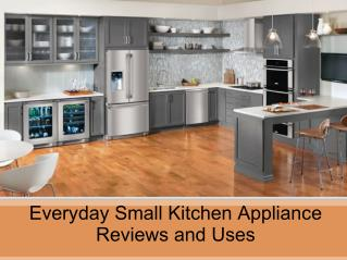 Everyday Small Kitchen Appliance Reviews and Uses