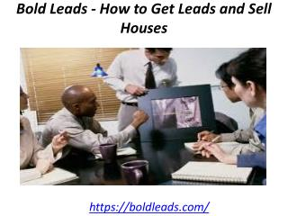 Bold Leads - How to Get Leads and Sell Houses