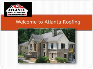Welcome To Atlanta Roofing
