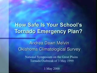 How Safe Is Your School s Tornado Emergency Plan