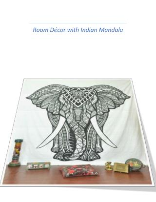 Elephant Print Indian Tapestry Bedding by Blessestore