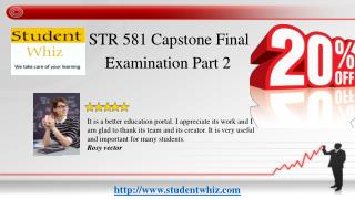 str 581 capstone final examination part 2 answers