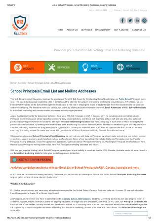 School Principals Mailing Lists