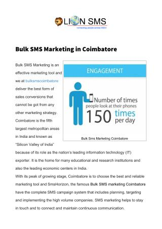 Bulk SMS Coimbatore  Marketing SMS Coimbatore