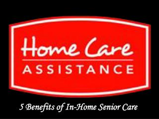 5 Benefits of In-Home Senior Care