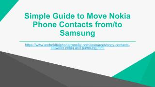 Move Nokia Phone Contacts from/to Samsung