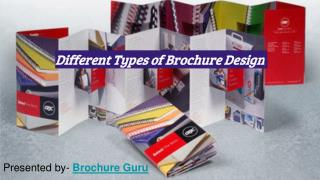 Different Types of Professional Brochure Designs