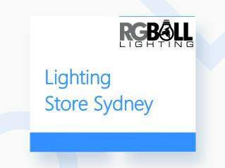 Lighting Store Sydney - RG Bull Lighting