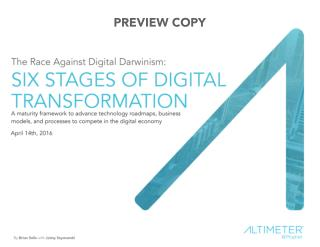 The Six Stages of Digital Transformation