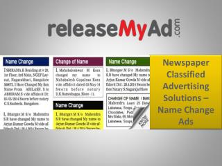 Name change ads in newspaper