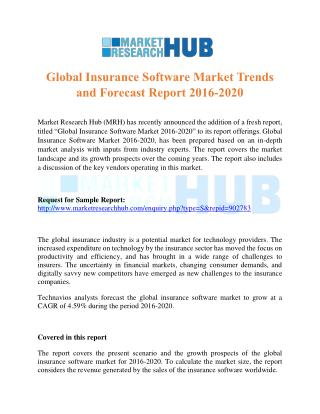 Global Insurance Software Market Report 2016-2020