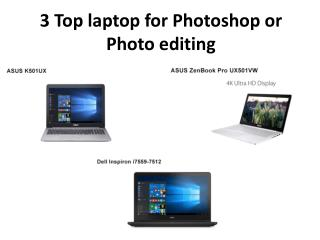Laptop for Photoshop