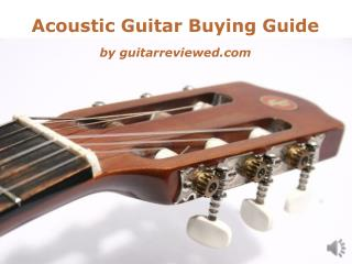 Best Acoustic Guitar Buying Guide