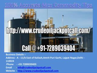 100%Accurate Mcx Commodity Tips