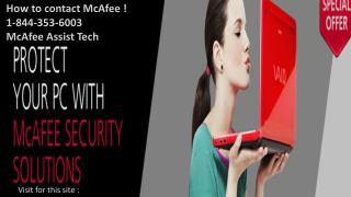 McAfee Antivirus 1-844-353-6003 Total Protection Support