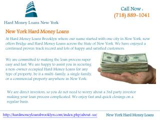 New York Hard Money Loans