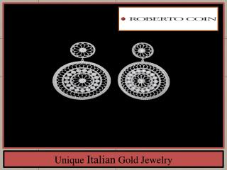 Unique Italian Gold Jewelry