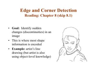 Edge and Corner Detection Reading: Chapter 8 (skip 8.1)