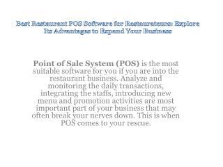 Best Restaurant POS Software for Restaurateurs