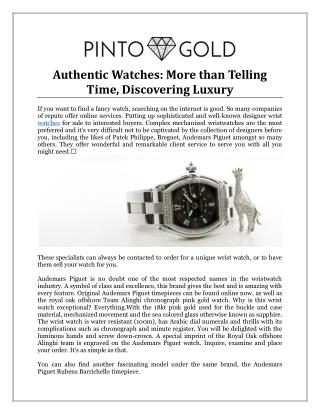 Authentic Watches: More than Telling Time, Discovering Luxury