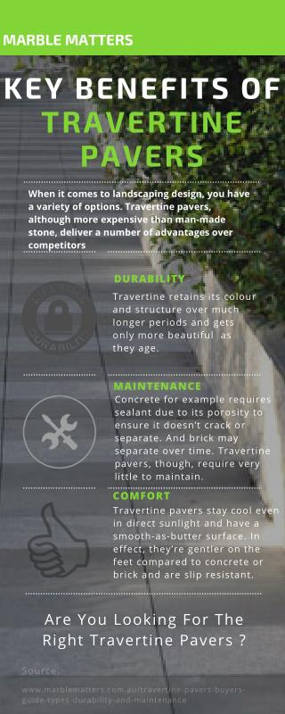 Key benefits of travertine pavers